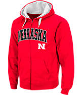 Men's Stadium Nebraska Cornhuskers College Cotton Full Zip Hoodie