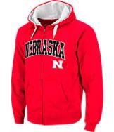 Men's Stadium Nebraska Cornhuskers College Cotton Full Zip Hoodie