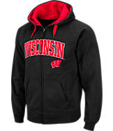 Men's Stadium Wisconsin Badgers College Cotton Full-Zip Hoodie