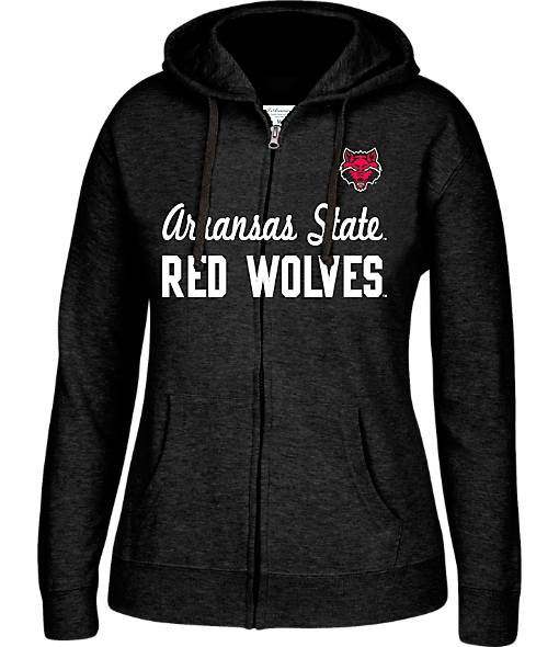 Women's J. America Arkansas State Red Wolves College Cotton Full-Zip Hoodie