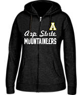Women's J. America Appalachian State Mountaineers College Cotton Full-Zip Hoodie