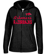 Women's J. America Arkansas Razorbacks College Cotton Full-Zip Hoodie