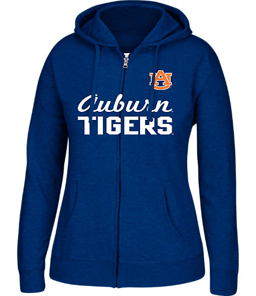 Women's J. America Auburn Tigers College Cotton Full-Zip Hoodie