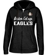 Women's J. America Boston College Eagles College Cotton Full-Zip Hoodie