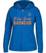 Women's J. America Boise State Broncos College Full-Zip Hoodie