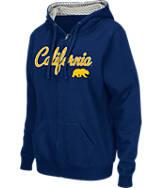 Women's Stadium Cal Golden Bears College Cotton Full-Zip Chevron Hoodie