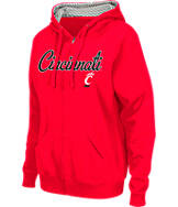 Women's Stadium Cincinnati Bearcats College Cotton Full-Zip Chevron Hoodie