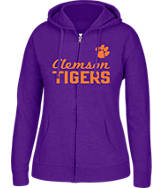 Women's J. America Clemson Tigers College Cotton Full-Zip Hoodie