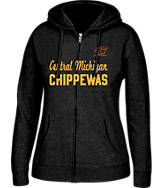 Women's J. America Central Michigan Chippewas College Cotton Full-Zip Hoodie