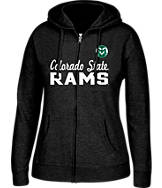 Women's J. America Colorado State Rams College Cotton Full-Zip Hoodie