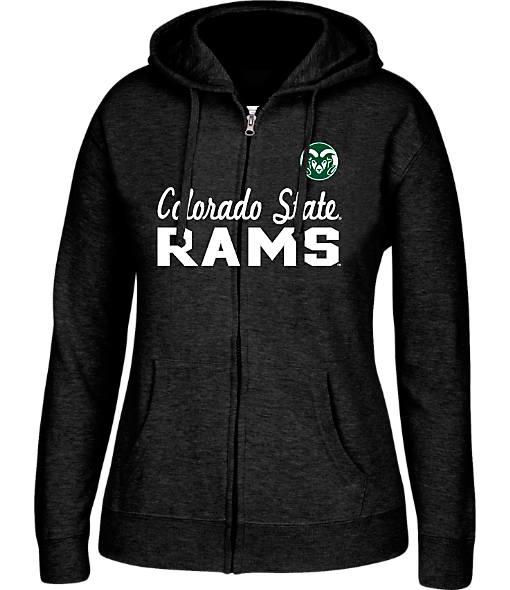 Women's J. America Colorado State Rams College Cotton Full-Zip Hoodie