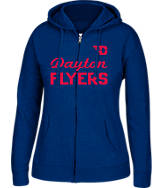 Women's J. America Dayton Flyers College Cotton Full-Zip Hoodie