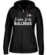 Women's J. America Fresno State Bulldogs College Cotton Full-Zip Hoodie