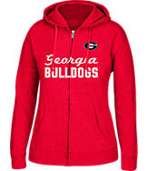 Women's J. America Georgia Bulldogs College Cotton Full-Zip Hoodie