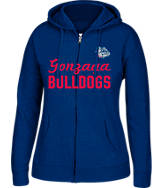Women's J. America Gonzaga Bulldogs College Full-Zip Hoodie