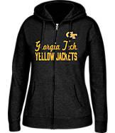 Women's J. America Georgia Tech Yellow Jackets College Cotton Full-Zip Hoodie