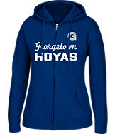 Women's J. America Georgetown Hoyas College Cotton Full-Zip Hoodie