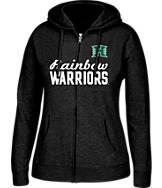 Women's J. America Hawaii Warriors College Cotton Full-Zip Hoodie