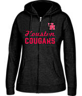 Women's J. America Houston Cougars College Cotton Full-Zip Hoodie