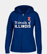 Women's J. America Illinois Fighting Illini College Cotton Full-Zip Hoodie