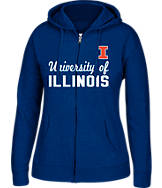 Women's J. America Illinois Fighting Illini College Cotton Full-Zip Hoodie