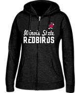 Women's J. America Illinois State Redbirds College Full-Zip Hoodie