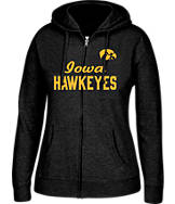 Women's J. America Iowa Hawkeyes College Cotton Full-Zip Hoodie