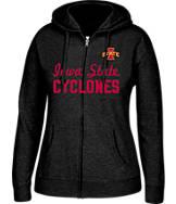 Women's J. America Iowa State Cyclones College Cotton Full-Zip Hoodie