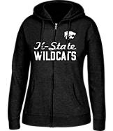 Women's J. America Kansas State Wildcats College Cotton Full-Zip Hoodie