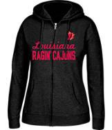 Women's J. America Louisiana - Lafayette Ragin' Cajuns College Full-Zip Hoodie