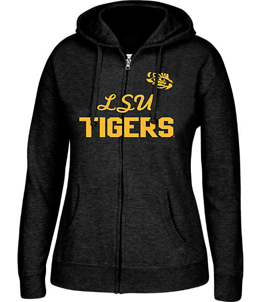 Women's J. America LSU Tigers College Cotton Full-Zip Hoodie
