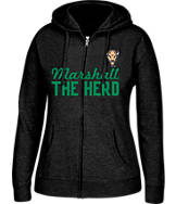 Women's J. America Marshall Thundering Herd College Full-Zip Hoodie