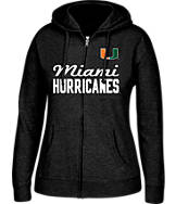 Women's J. America Miami Hurricanes College Cotton Full-Zip Hoodie