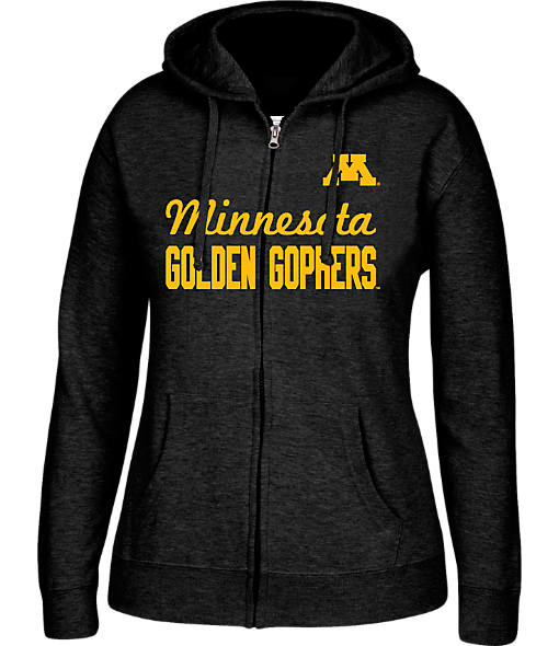 Women's J. America Minnesota Golden Gophers College Cotton Full-Zip Hoodie
