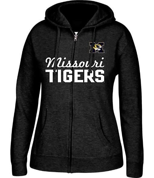 Women's J. America Missouri Tigers College Full-Zip Hoodie