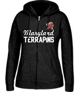 Women's J. America Maryland Terrapins College Full-Zip Hoodie