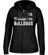 Women's J. America Mississippi State Bulldogs College Full-Zip Hoodie