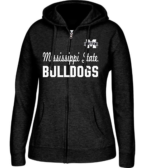Women's J. America Mississippi State Bulldogs College Full-Zip Hoodie
