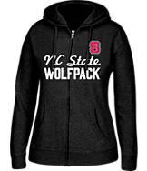 Women's J. America NC State Wolfpack College Full-Zip Hoodie