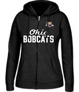 Women's J. America Ohio Bobcats College Cotton Full-Zip Hoodie