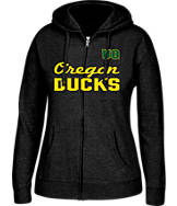 Women's J. America Oregon Ducks College Cotton Full-Zip Hoodie