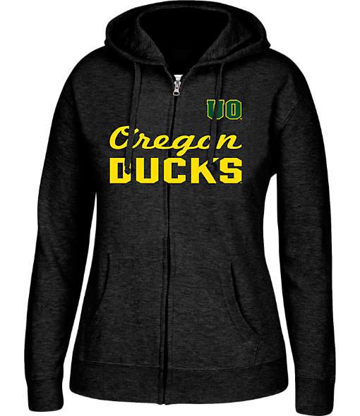 Women's J. America Oregon Ducks College Cotton Full-Zip Hoodie