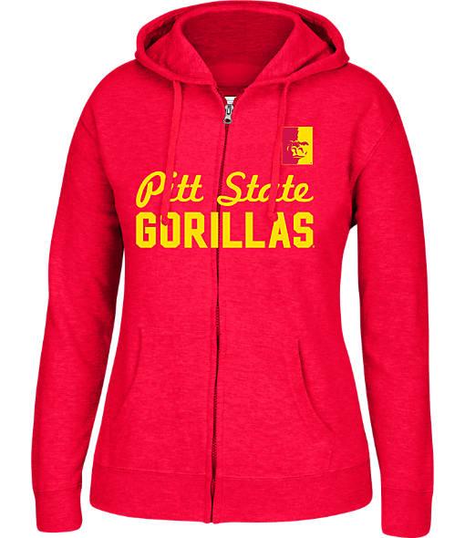 Women's J. America Pittsburg State Gorillas College Full-Zip Hoodie