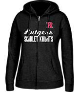 Women's J. America Rutgers Scarlet Knights College Cotton Full-Zip Hoodie