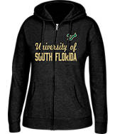 Women's J. America South Florida Bulls College Cotton Full-Zip Hoodie