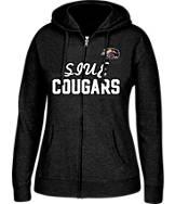 Women's J. America SIU - Edwardsville Cougars College Full-Zip Hoodie