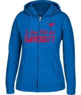 Women's J. America Southern Methodist Mustangs College Cotton Full-Zip Hoodie