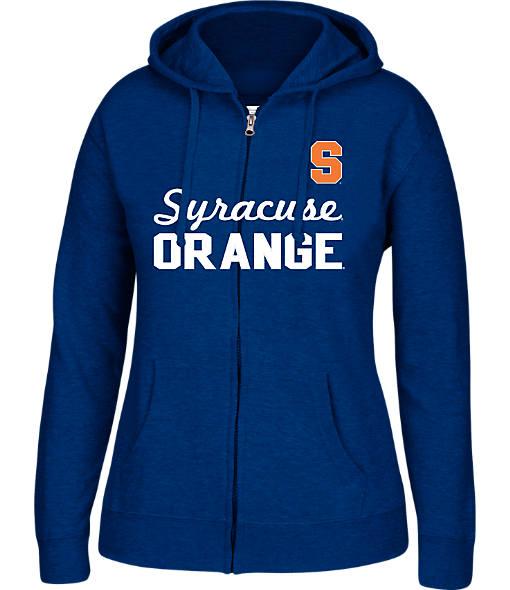Women's J. America Syracuse Orange College Cotton Full-Zip Hoodie