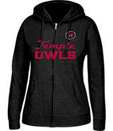 Women's J. America Temple Owls College Full-Zip Hoodie