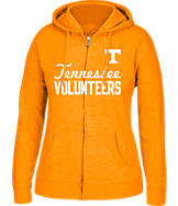 Women's J. America Tennessee Volunteers College Cotton Full-Zip Hoodie